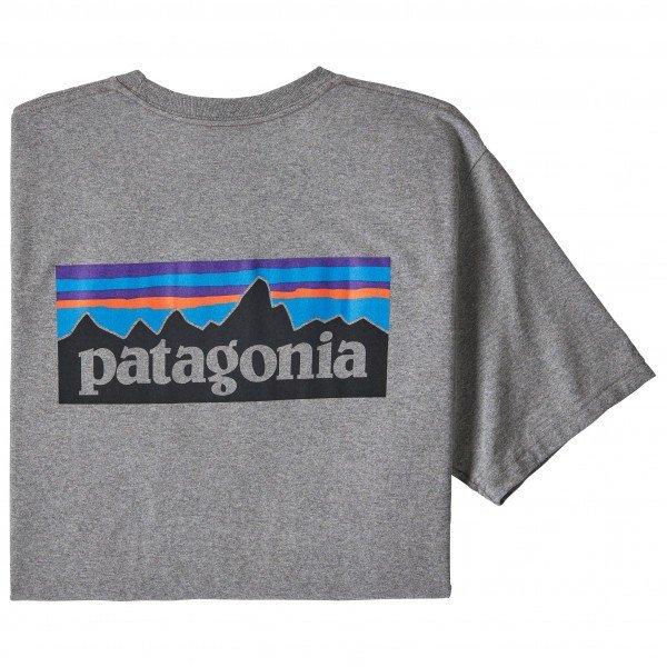PATAGONIA P-6 Logo Responsibili-Tee 使い勝手の良い 即納 パタゴニア レスポンシビリティー 格安店 Tシャツ Heather Gravel メンズ ロゴ