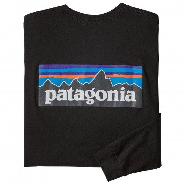 PATAGONIA L S P-6 Logo Responsibili-Tee パタゴニア 激安挑戦中 P-6ロゴ 販売実績No.1 ロングスリーブ Tシャツ レスポンシビリティー メンズ Black