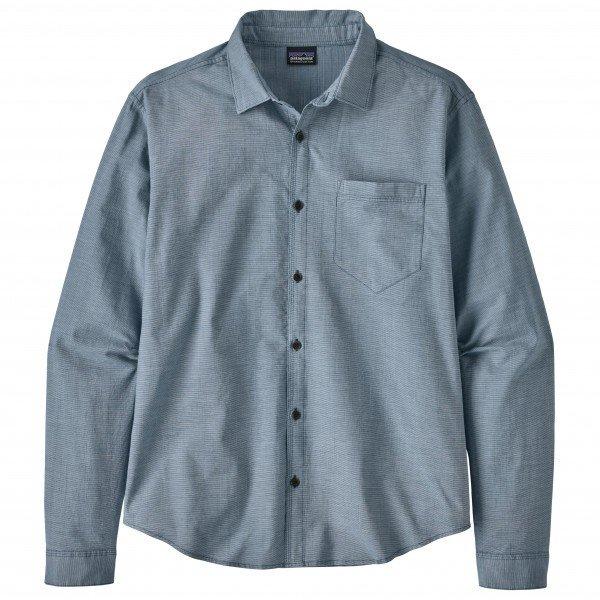 パタゴニア ◆ L/S Organic Cotton Slub Poplin シャツ メンズ(End on End / Superior Blue)
