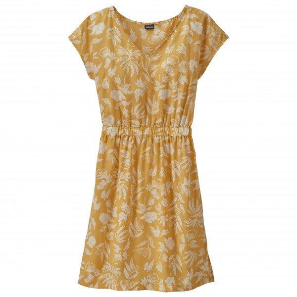 パタゴニア ◆ June Lake Dress ワンピース レディース(Fiber Flora Big / Surfboard Yellow)
