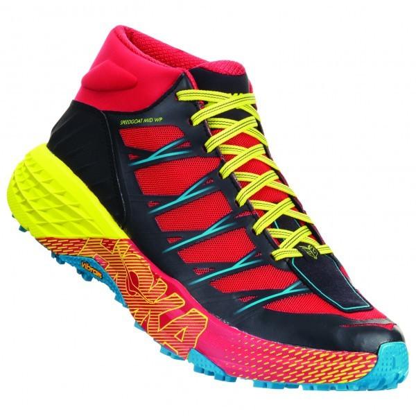 ホカ オネオネ Speedgoat Mid WP(Chinese Red / Caribbean Sea)★登山靴・靴・登山・アウトドアシューズ・山歩き★