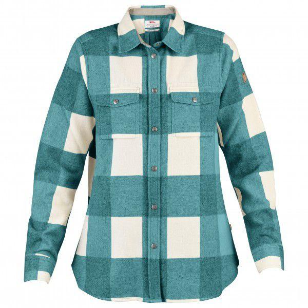フェールラーベン Canada Shirt L/S シャツ レディース(Laurel Green / Fog)