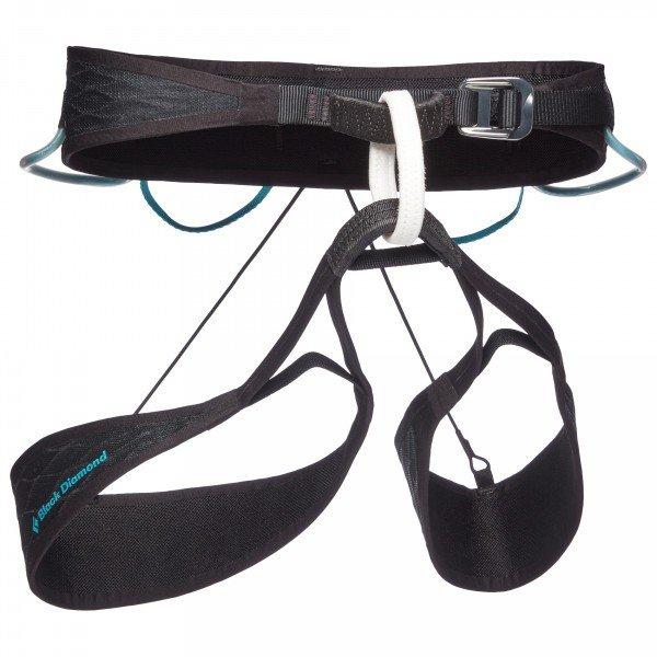 ブラックダイヤモンド Airnet Harness レディース(Black / Aqua Verde)