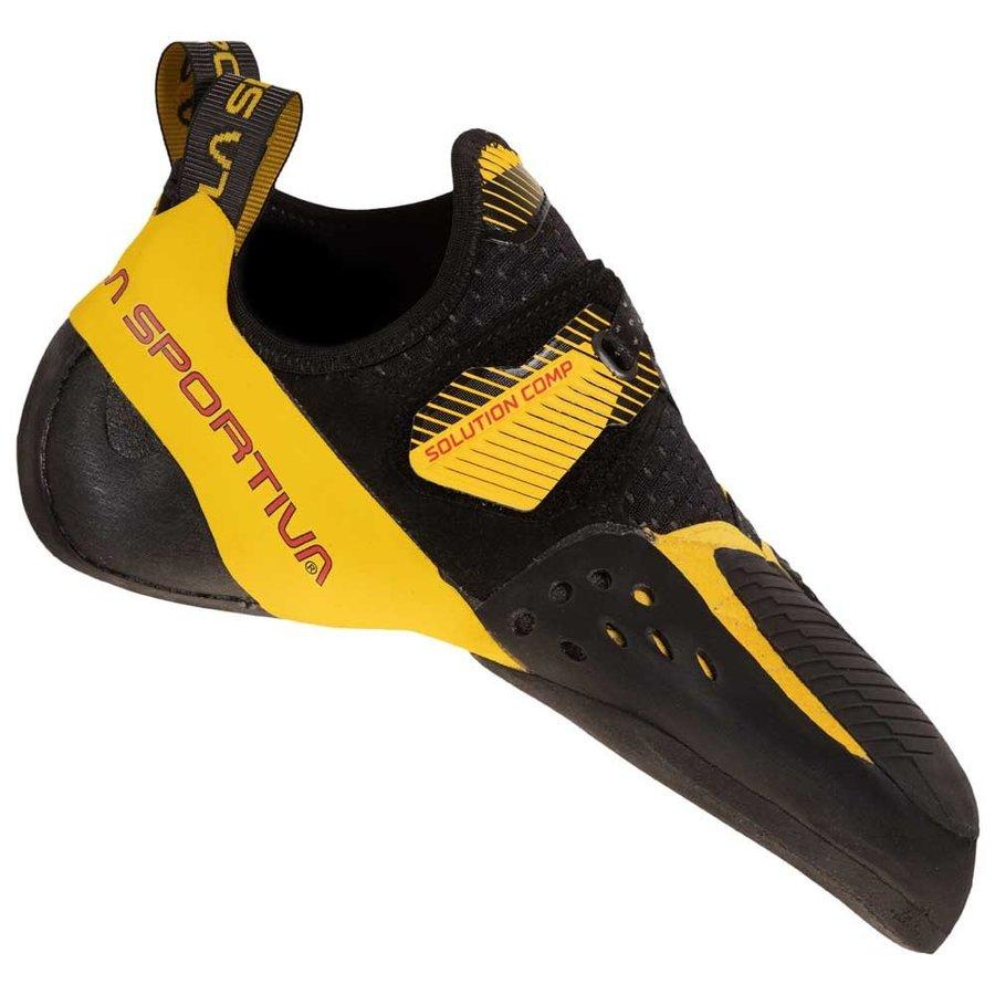 [ スポルティバ ] Solution Comp ( Black / Yellow ) ★ ロッククライミング ・ クライミングシューズ ・ ボルダリングシューズ ★