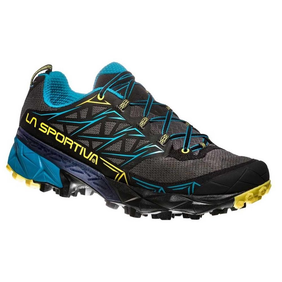 [ スポルティバ ] Akyra ( Carbon / Tropic Blue ) ★ トレイルラン ・ 山歩き ・ アウトドアシューズ ・ 靴 ・ 登山 ★