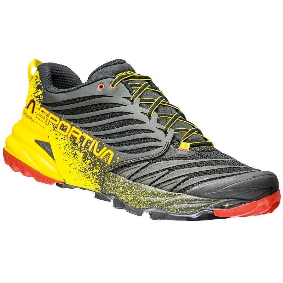 [ スポルティバ ] Akasha ( Black / Yellow ) ★ トレイルラン ・ 山歩き ・ アウトドアシューズ ・ 靴 ・ 登山 ★