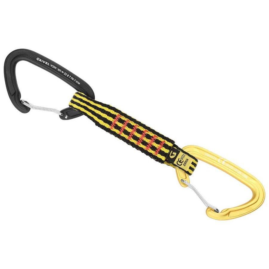 [ グリベル ]Plume Wide K3W+K3W x 5 Quickdraw ( Black / Yellow )