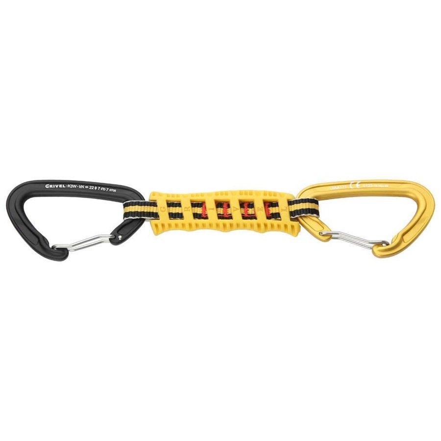 [ グリベル ]Plume Easy K3W+3F+K3W x 5 Quickdraw ( Black / Yellow )
