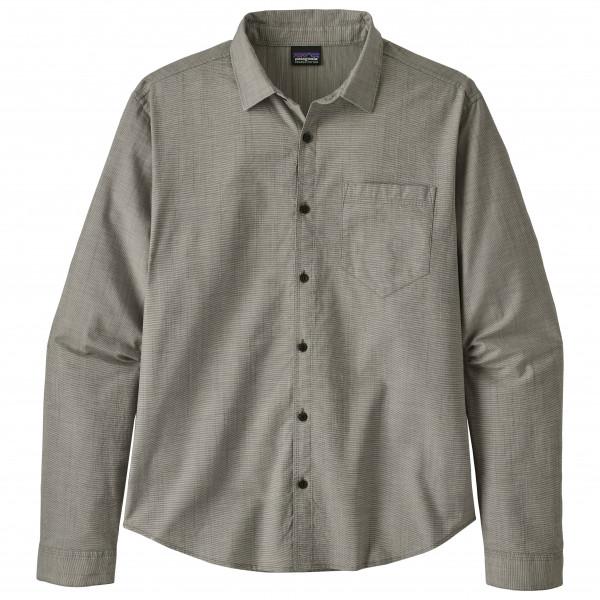 パタゴニア ◆ L/S Organic Cotton Slub Poplin シャツ メンズ(End on End / Forge Grey)