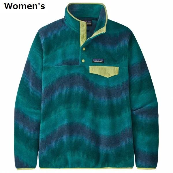 PATAGONIA - Women's Synchilla お中元 Snap-T Pullover パタゴニア ウィメンズ Borealis Green プルオーバー スナップT 超安い Aurora: Dark シンチラ
