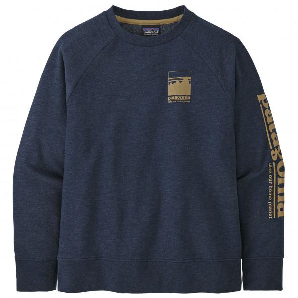 PATAGONIA 贈呈 Kid's Lightweight Crew Sweatshirt ≪Kid's≫ パタゴニア キッズ 新作からSALEアイテム等お得な商品満載 Alpine Icon: New クルー スウェットシャツ ライトウェイト Navy