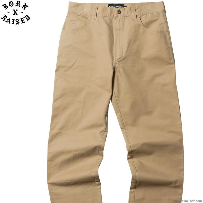 【BORN X RAISED】 ボーンアンドレイズド BORN X RAISED CHINO PANTS (BEIGE) #38704 メンズ ボトムス パンツ チノ ベージュ