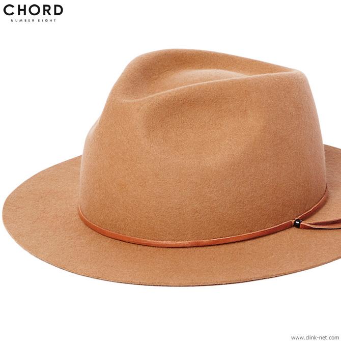 CHORD NUMBER EIGHT BRIM HAT (CAMEL) [N8M1G5-HA01] コードナンバーエイト