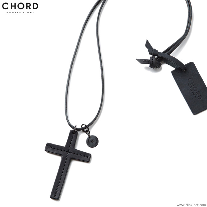 【CHORD NUMBER EIGHT】 コードナンバーエイト CHORD NUMBER EIGHT WARRIORS CROSS NECKLACE (BLACK) [N8M1G3-AC01] メンズ アクセサリー ネックレス