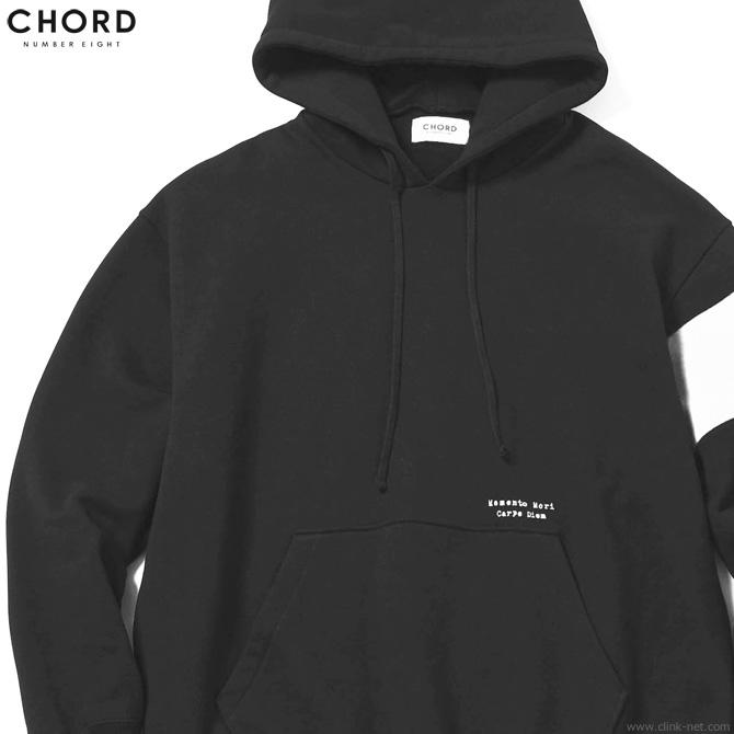 CHORD NUMBER EIGHT × CLINK RESISTANCE HOODIE LTD. (BLACK×WHITE) [N8M1H5-CLCS01] コードナンバーエイト