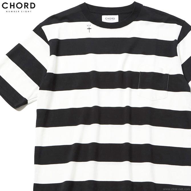 【CHORD NUMBER EIGHT】 コードナンバーエイト CHORD NUMBER EIGHT BORDER BIG TEE (BLACK×WHITE) [N8M1K1-CS05] メンズ Tシャツ 半袖 ボーダー