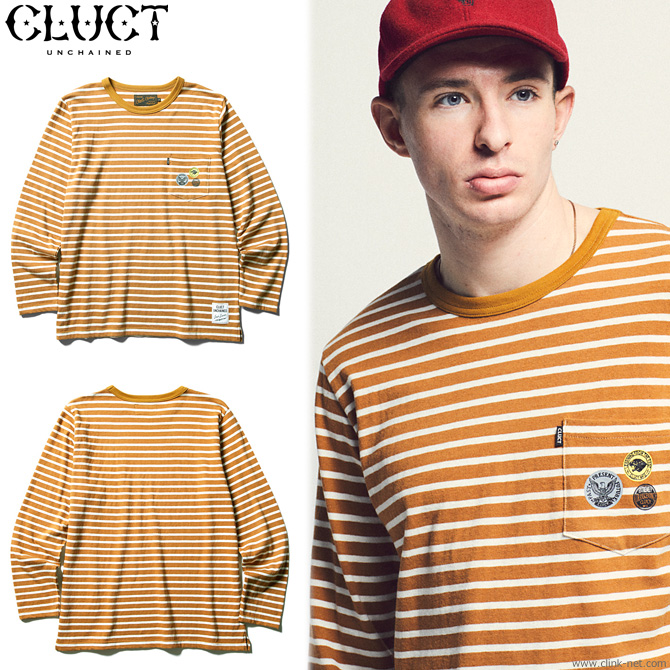 【CLUCT/クラクト】CLUCT L/S WOOL PKT CREW (CAMEL×WHITE) #02801