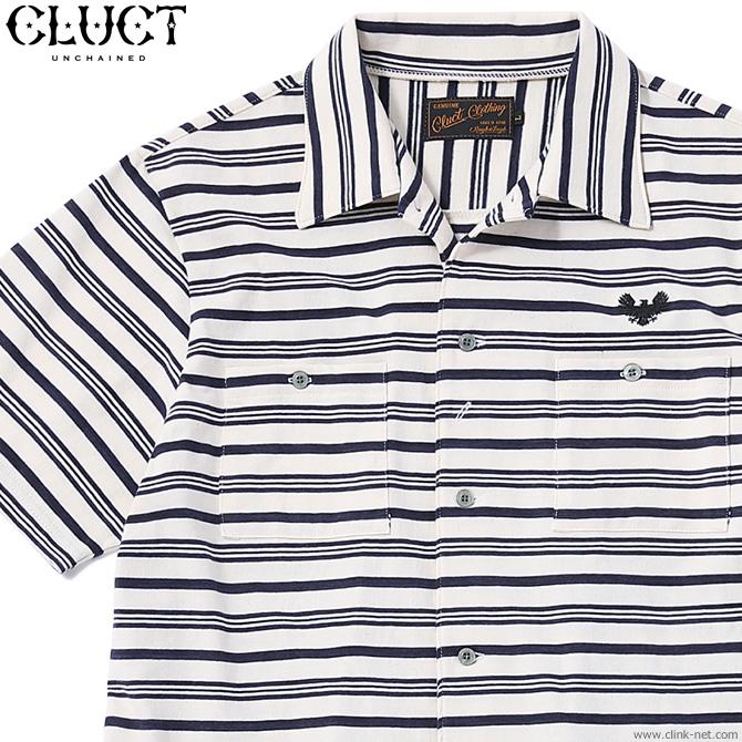 CLUCT S/S BORDER SHIRT (NAVY) #03016 クラクト 半袖シャツ ボーダー