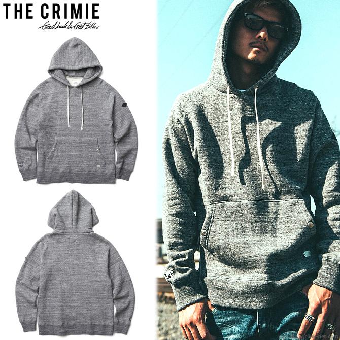 【CRIMIE/クライミー】CRIMIE ORIGINAL TSURIAMI HOODED PULL OVER SWEAT PARKA (CHARCOAL GRAY) [C1H5-SWX2]