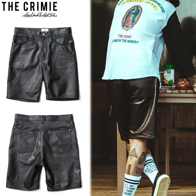 【CRIMIE/クライミー】CRIMIE LEATHER SHORTS [C1H3-PT04]