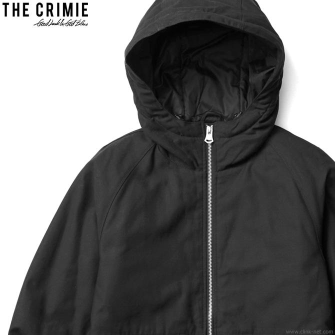 【CRIMIE】 クライミー CRIMIE BACK SATAIN THINSULATE ZIP HOOD JACKET (BLACK) [CR01-01K5-JK24] メンズ ジャケット アウター ダウン系 ブラック