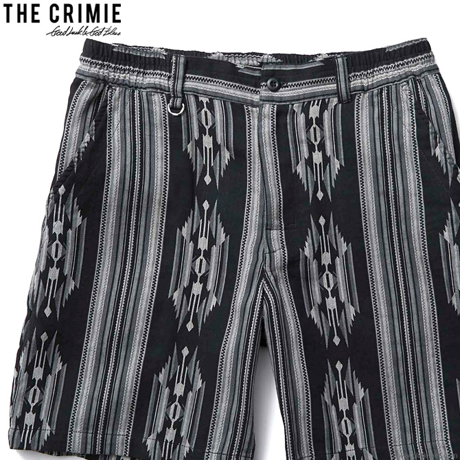 【予約/3月~4月入荷予定】CRIMIE NATIVE JACQUARD SHORTS (BLACK) [CR01-02L1-PS20]