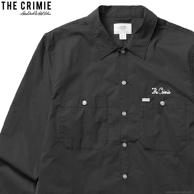 【CRIMIE】 クライミー CRIMIE WORK STRETCH SHIRT (BLACK) [CR01-02L1-SL02] メンズ トップス シャツ 長袖 ブラック