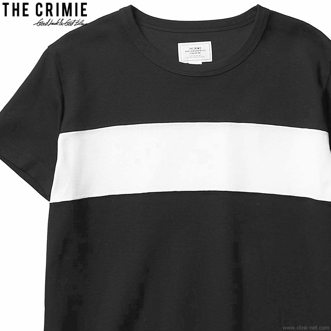 【CRIMIE】 クライミー CRIMIE SURF KNIT T-SHIRT (BLACK) [CR01-02L1-CS03] メンズ Tシャツ 半袖