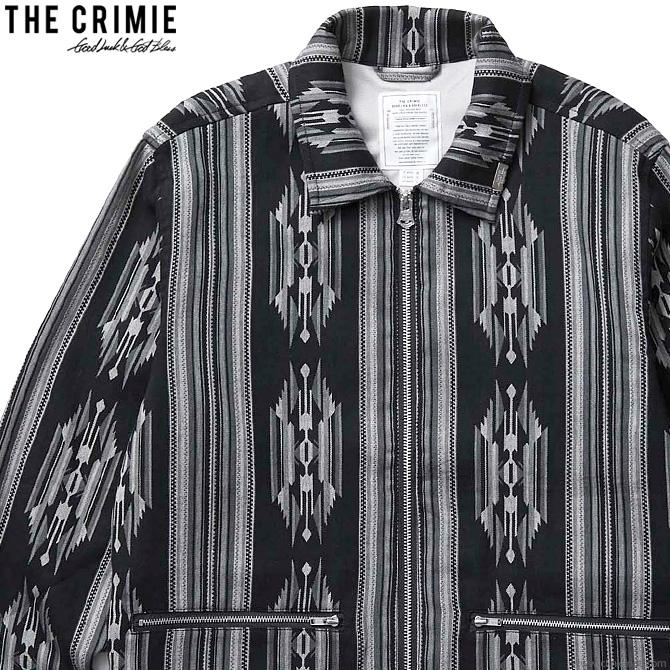 【CRIMIE】 クライミー CRIMIE NATIVE JACQUARD SWING TOP JACKET (BLACK) [CR01-02L1-JK13] メンズ ジャケット アウター スウィングトップ