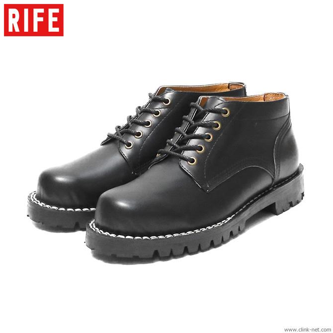 【RIFE】 ライフ RIFE PLANE TOE OXFORD SHORT BOOTS Ver.02 (BLACK) メンズ ブーツ