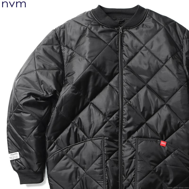 【NVM】 エヌブイエム GRAVYSOURCE × NVM QUILTED JACKET (BLACK) [GSNV18-JK01] メンズ ジャケット アウター ダウン系