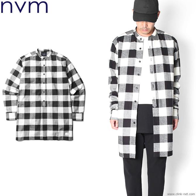 【NVM/エヌブイエム】NVM CHECK LONG SH (WHT×BLK) [NVM17A-SH01]
