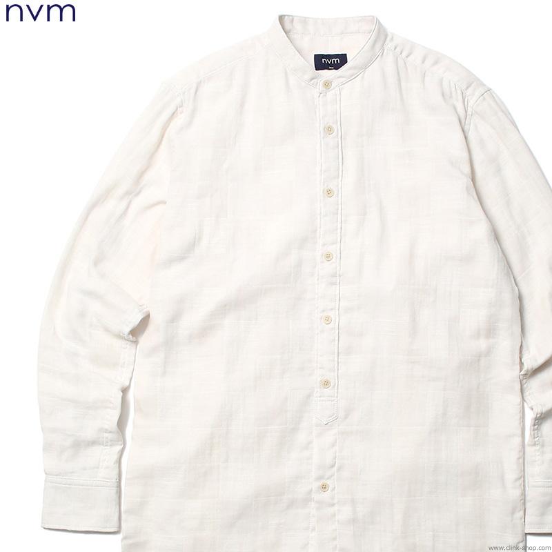 【NVM】 エヌブイエム NVM GAUZE LONG SH (OFF WHITE) [NVM17S-SH01] メンズ トップス シャツ 長袖 ホワイト