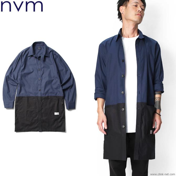 【NVM/エヌブイエム】NVM SHIRTS COAT (NVY×BLK) [NVM18S-JK01]