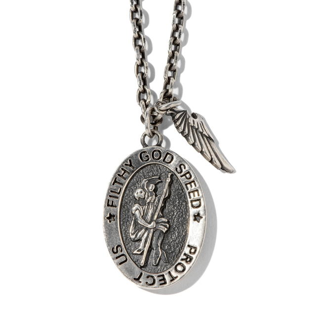TOYPLANE ST.CHRISTOPHER NECKLACE (SILVER) トイプレーン