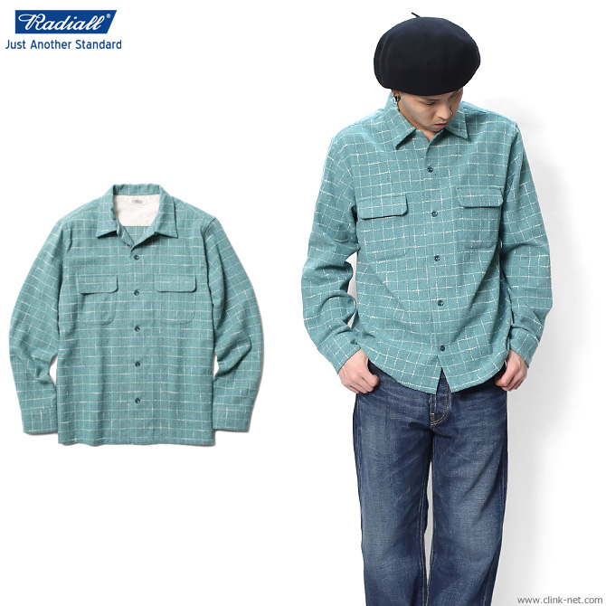 【RADIALL/ラディアル】 RADIALL ICE COLD - OPEN COLLARED SHIRT L/S (GREEN)