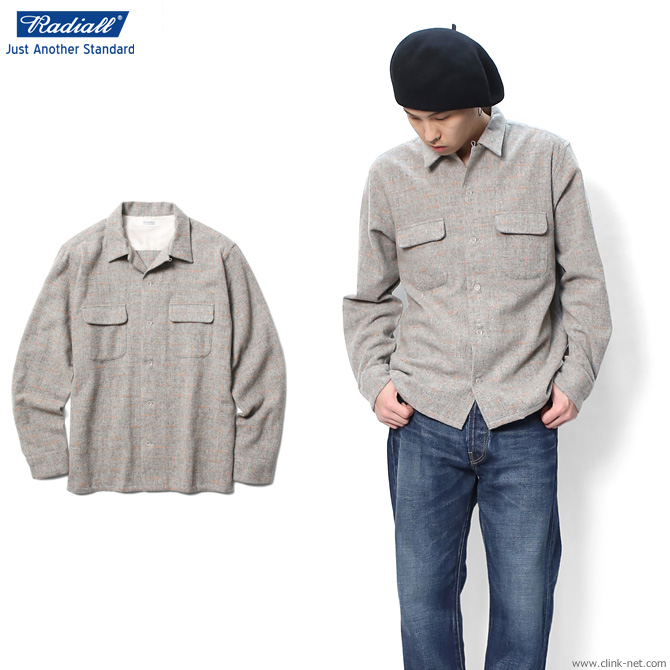 【RADIALL/ラディアル】 RADIALL ICE COLD - OPEN COLLARED SHIRT L/S (GRAY)