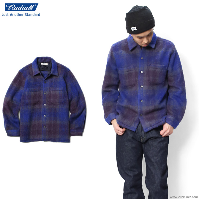 【RADIALL/ラディアル】 RADIALL IMPERIAL - OPEN COLLARED SHIRT L/S (BLUE)