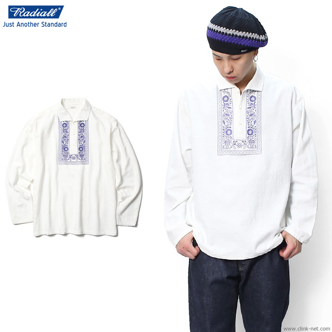 【RADIALL/ラディアル】RADIALL MAUNA KEA - ONE PIECE COLLARED SHIRT L/S (WHITE)