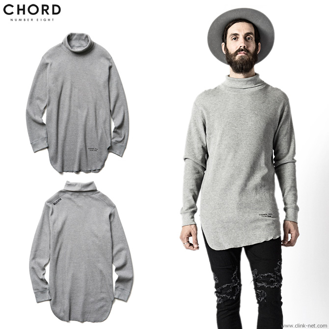 【CHORD#8/コードナンバーエイト】CHORD NUMBER EIGHT HIGH NECK LONG THERMAL (GRAY) [N8M1F5-CS01]