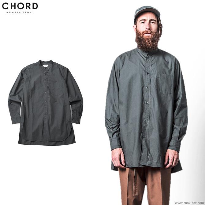 【CHORD#8/コードナンバーエイト】CHORD NUMBER EIGHT LONG SHIRT (CHACOAL GRAY) [N8M1H1-SH05]