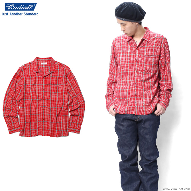 【RADIALL/ラディアル】RADIALL TROPHY TAKER - OPEN COLLARED SHIRT L/S (RED)