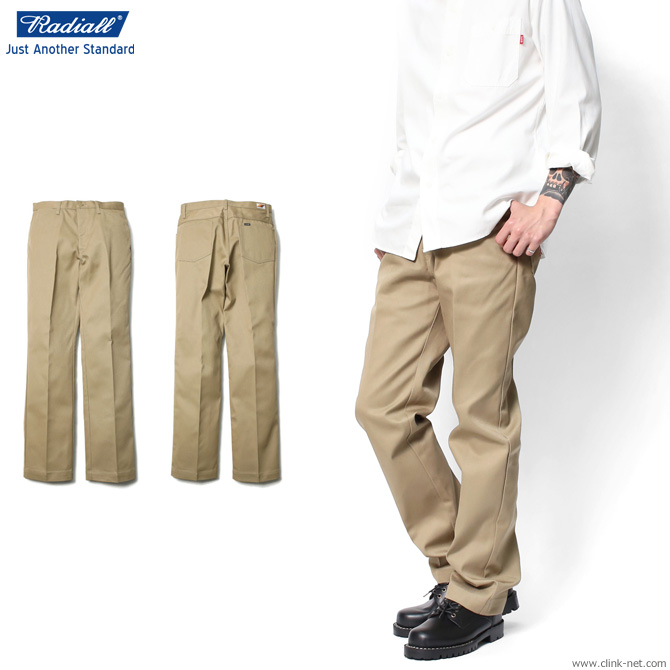 RADIALL CVS WORK PANTS -STRAIGHT FIT- (BEIGE) ラディアル