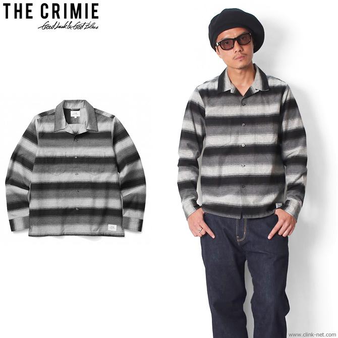 【CRIMIE/クライミー [C1G5-SH12]】 BORDER CRIMIE (BLACK) BORDER OPEN SHIRT (BLACK) [C1G5-SH12], 美川町:5cb8ec5e --- jpscnotes.in