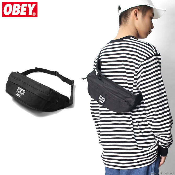 27406395c2 clink  OBEY DROP OUT SLING PACK (BLACK)