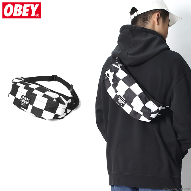 82714e3ad0 clink  OBEY DROP OUT SLING PACK (CHECKER)