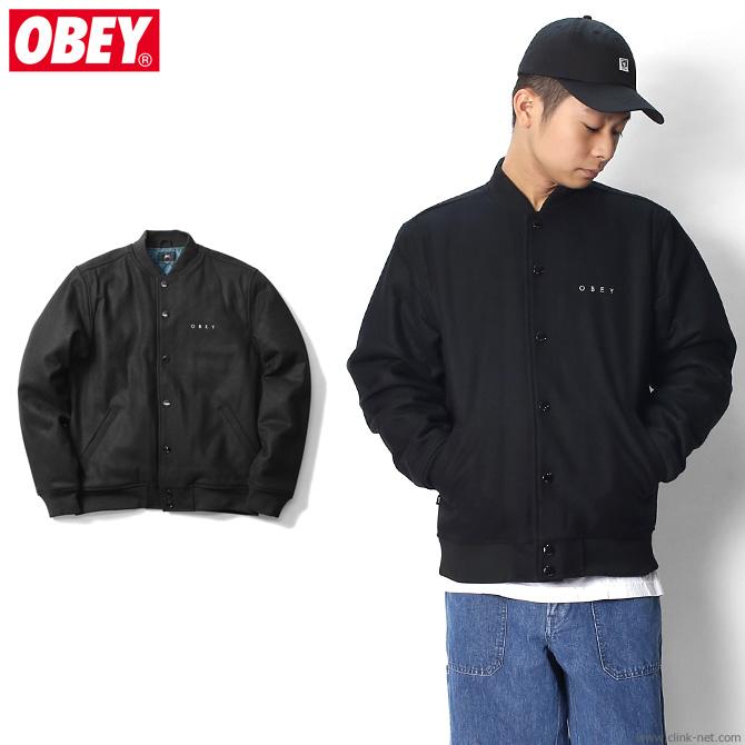 OBEY SOTO DIVISION JACKET (BLACK) オベイ