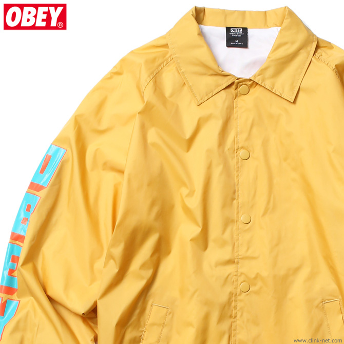【OBEY】 オベイ OBEY CLASSIC COACHES JACKET