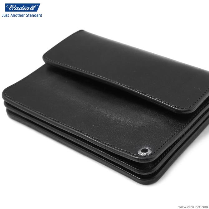 【RADIALL】 ラディアル RADIALL ANCHOR - SHORT WALLET (BLACK) メンズ アクセサリー ウォレット 財布