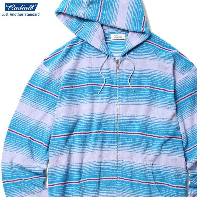 SALE 30%OFF RADIALL CACTUS - HOODIE SWEATSHIRT L/S (BLUE) ラディアル 最大半額スーパーセール!期間・数量限定セール